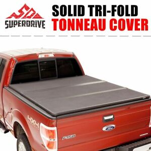 Fits For 2005 2015 Toyota Tacoma 6ft Short Bed Solid Hard Tri Fold Tonneau Cover