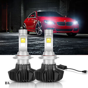 2x Autofeel Led Headlight Bulbs H4 9003 High low Beams Lamps 13000lm 6000k White