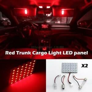 Red T10 Ba9s Festoon 36 Smd Led Interior Festoon Dome Car Light Panel Lamp Bulb