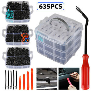 625pcs Car Auto Push Retainer Clips Plastic Fasteners Set For Gm Toyota Honda