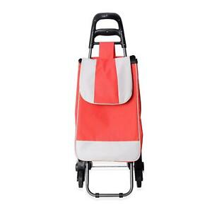 Red Stair Climber Foldable Trolly Dolley Chair Moveable Luggage Shopping Cart