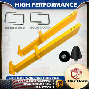 Pack Of 2 Summit Racing 20475 Universal Leaf Spring Traction Bars 28 Yellow Us