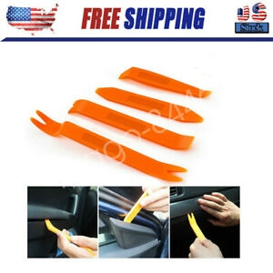 4x Car Trim Removal Tools Auto Door Panel Dash Radio Body Clip Open Pry Kit