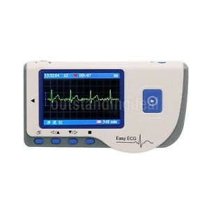 Easy Ecg Pc 80b Monitor Machine Heart Rate 2 8 Color Lcd Continuous Measurement