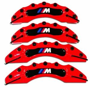 4 Red Bmw Brake Caliper Covers E30 E36 E46 E39 E90 E91 E92 E60 F80 F82 M Power