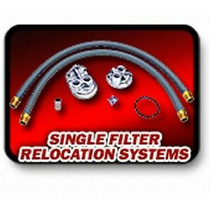 1158 Transdapt Oil Filter Relocation Kit New For Chevy S10 Pickup S15 Civic Tl