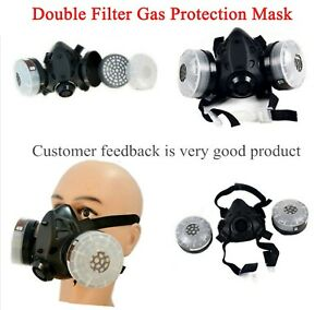 Double Filter Gas Protection Mask Filter Chemical Respirator For Painting fire