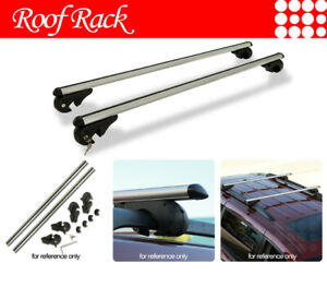 Fit Jeep Rail Tower Rooftop Mount Rack Aluminum 48 Cross Bars Luggage Carrier