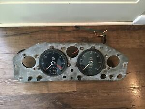 Jaguar Xk140 Gauge Cluster Panel Speedometer 120 Mph Rpm Free Ship