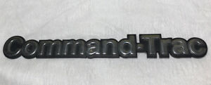 1980s Jeep Command trac Tail Gate Nameplate Emblem