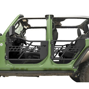 Rock Crawler Safari Tubular Door With Mirror Fit For 18 20 Jeep Jl Wrangler 4dr