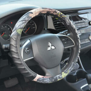 Soft Grip Muddy Camo Steering Wheel Cover Standard Size Strong Protection
