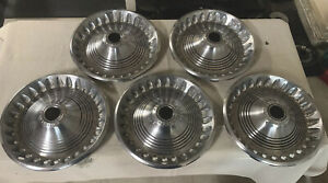 Set Of 5 Vintage Antique 1973 1974 Plymouth Barracuda Hubcaps Wheelcover Mopar