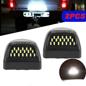 Led License Plate Light W Red Running Lamps For Chevrolet Silverado 1999 2013