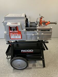 Ridgid 535 Pipe Threading Machine W 200a Cart 2 811a Die Head 535m 300 Compact