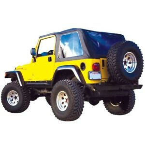 Brt10035 Rt Off Road Soft Top New Black For Jeep Wrangler 1997 2006