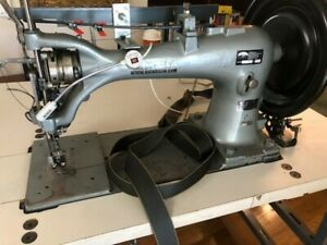 Singer Industrial Harness Sewing Machine 7 33 With Table Motor Thread Stand