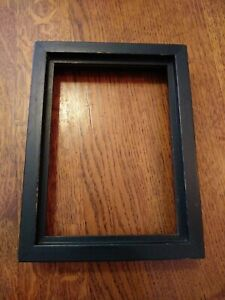 Vintage Deep Black Solid Wood Frame Mid Century Modern Holds 5 7 Mcm Thick