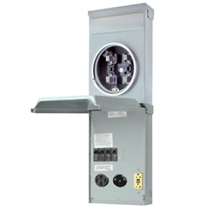Rv Power Panel Metered Box Ring type Mount Receptacles 50 30 20 Amp Gfci Outlet