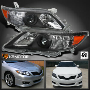 For 2010 2011 Toyota Camry Se Black Projector Headlights Replacement Left Right