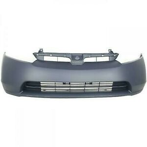 Primed Front Bumper Cover Fascia For 2006 2007 2008 Honda Civic 1 8 Sedan