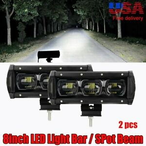 8 9d Fog Driving Led Spot Lamp Work Light Bar Offroad Buggy Suv Rectangular 7