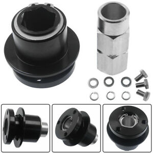 Excellent Quality 360 Steering Wheel Quick Release Disconnect Hub Us Ship Black