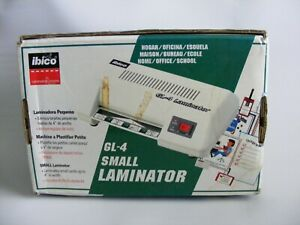 Ibico Gl 4 Small Desktop Laminator Upto 4 Wide Photo Id business Cards Lot