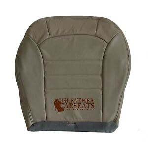 2004 Jeep Liberty Driver Bottom Leather Replacement Seat Cover Light Taupe Tan