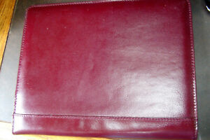Design a day Brown Leather Open book Portfolio Business Carryall