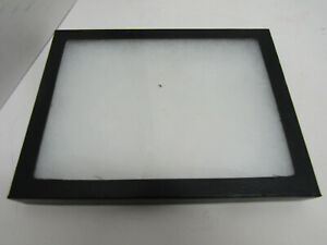 Old Table Top Small Display Case Box Glass Lid Multi purpose