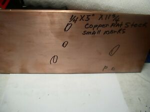 1pc Copper Flat Bar 1 4 X 5 X 11 3 4 Copper Bar From Electrical Panel