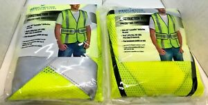 Lot Of 2 West Chester Construction Vest W 3m Scotchlite Material New