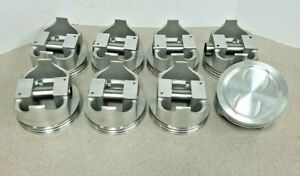 Clevite Chevy 350 Forged Dish Supercharged Turbo Pistons Set 8 8 3 1 30