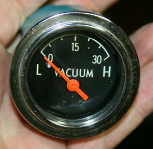 60s 70s Large Truck Stewart Warner Vintage Vacuum Gauge Mystery Unknown