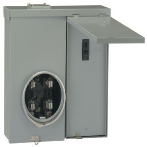 Outdoor Meter 100 Amp Socket Electric Load Center Single Phase Galvanized Box