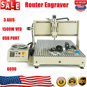 Usb 3axis Cnc Router Engraver Woodworking 6090 Advertising Milling Carving Ups