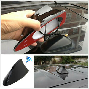 New Shark Fin Car Top Roof Radio Fm Am Signal Aerial Decorate Antenna Mast Black