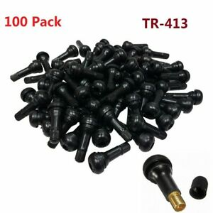 Lot 100x Tr 413 Snap In Rubber Tire Valve Stems Short Most Popular Valve Black U