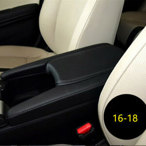 Pure Black Car Front Armrest Box Cover Replace Parts Special For Civic 2016 2018