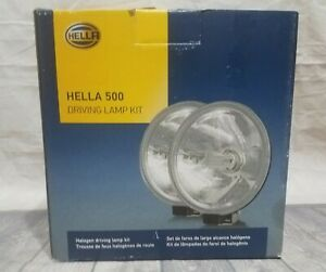 Hella 500 Round Driving Light Kit White Covers