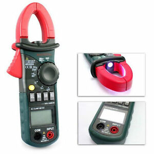 Digital Clamp Meter Dc Ac Volt Ac Amp Ohm Tester Ms2008a 2000 Counts Lcd Oe