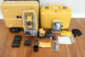 Topcon Ps 101a 1 Robotic Total Station Kit Tesla Data Collector Rc 5 Magnet