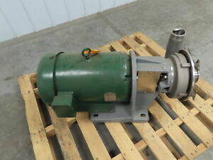 Fristam Fp3542 200 Stainless Steel Centrifugal Pump 20hp 3 Intake 230 460v 3ph