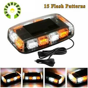 36 Led Strobe Light Roof Emergency Warning Flash Amber White Car Marker Light