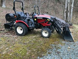 2019 Yanmar Sa324 Cmpact 4x4 Tractor With Bucket And Back Blade