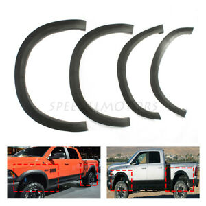 4pcs Fender Flares Cover Factory Style Fit For 2009 To 2018 Dodge Ram 1500 New