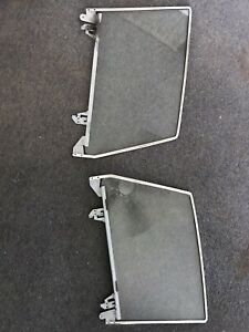 1959 Corvette Side Window Glass And Frames One Pair Used