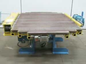 Hk Systems 90 Turn Table Power Roll Case Pallet Conveyor 54 wx51 lx32 1 2 h