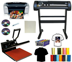 15x15 Heat Press 28 24 Laser Vinyl Cutter Plotter printer Refills Pu tshirt